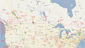 map of canada us map usa canada border major tourist attractions maps