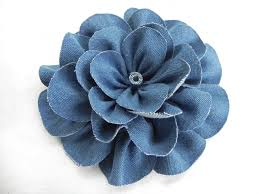 fabric flowers diy denim fabric flowers large rounded petal style miss party