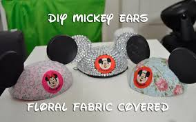 disney diy floral fabric mickey ears 10 13 14 day 43 youtube