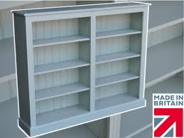 white painted pine bookcase 7ft tall x 18
