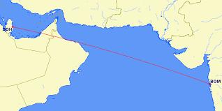 doha qatar map mumbai to doha qatar flights