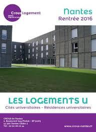 chambre universitaire nantes calaméo crous brochure logement nantes 2016