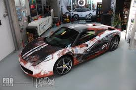 ferrari 458 custom paint is dead ferrari 458 spider gets rust wrap gtspirit