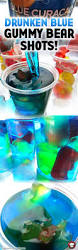 vodka tonic blacklight drunken blue curacao gummy bear shots recipe gummy bear shots
