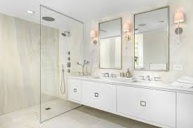 chicago backlit onyx wall bathroom contemporary with double vanity