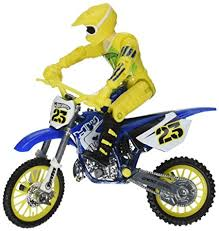wheels motocross bikes amazon com wheels moto x no 23 rider with blue bike figure blue