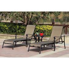 Patio Furniture Cleveland Ohio by Darlee Monterey 3 Piece Sling Patio Chaise Lounge Set Ultimate Patio