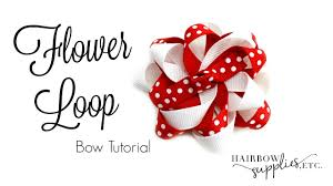 hairbow supplies flower loop hair bow tutorial hairbow supplies etc