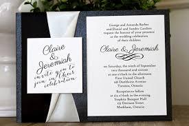 wedding invitations toronto wedding invitation 1506 black pearl smooth