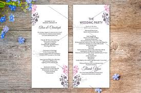 ceremony program template wedding ceremony program template stationery templates