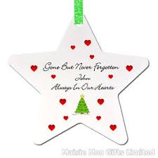 personalised in memory memorial tree ornament decoration
