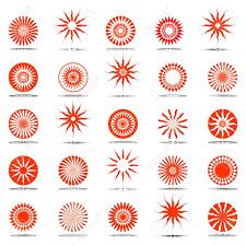 sun icons design elements set royalty free cliparts vectors