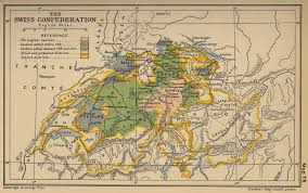swiss map map of the swiss confederation 1513