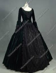 Victorian Halloween Costume Victorian Gothic Queen Dark Witch Temptress Gown Steampunk