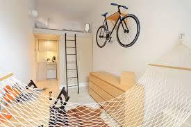 Minimalist Apartment Tiny Minimalist Apartment Has A Bike On The Wall Treehugger