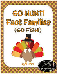 fact family go hunt a thanksgiving themed go fish tpt
