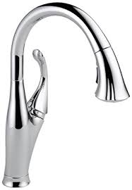 touch on kitchen faucet delta faucet 9192 dst single handle pull kitchen