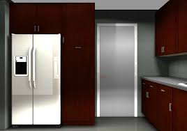 Kitchen Fridge Cabinet Optimizing Kitchen Space With Contemporary Ikea Cabinets