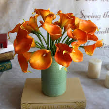 Calla Lily Vase Life 60 Pcs Single Stem Mini Calla Lilies Artificial Wedding Flowers