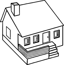 printable house coloring pages for kids haunted page home safety