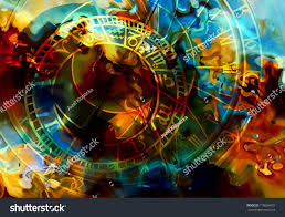 astrological symbol zodiac abstract color background stock
