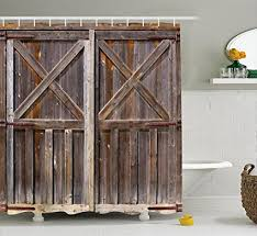Rustic Shower Curtains Rustic Shower Curtain By Ambesonne Wooden Barn