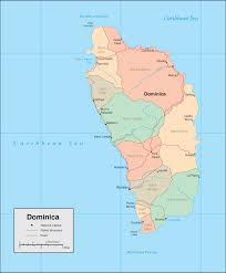 Caribbean Countries Map by Dominica Country Map
