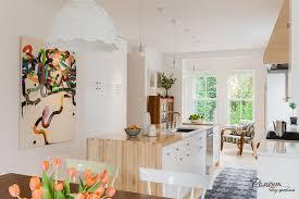 Open Kitchen Decoration Cool Open Kitchen Design In Bright White Color Scheme With Fresh