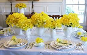 Beautiful Place Settings Daffodil Profusion Table Stonegable