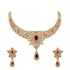 bridal gold set collections studded bridal gold necklace set grt jewellers
