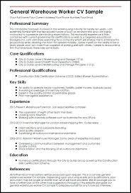 Warehouse Resume Objective Sample Resume Of Warehouse Worker Example Resume Warehouse Worker