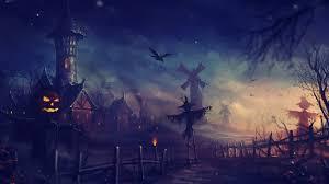 halloween villages download halloween night in village art wallpaper in 1920x1080