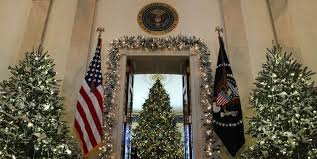 the brown christmas tree the white house just unveiled its christmas decorations
