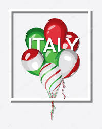 Italy National Flag Italy Bunch Of Balloons With Italian Flag Colors U2014 Stock Vector