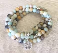 bead bracelet images Amazonite mala bead bracelet glamorous hippie jpg