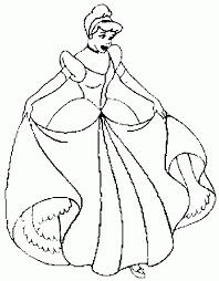 disney princess coloring pages cinderella print free background