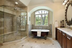 bathroom modern bathroom design with brown vanity cabinets and