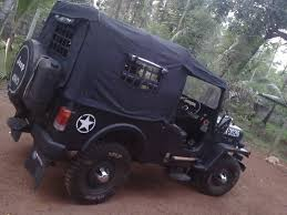 indian army jeep modified mahindra cj 500d my modified jeep got the soft top