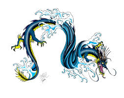 tattoo dragon water water dragon tattoo by baldferretgraphics on deviantart