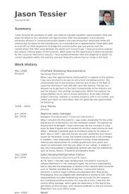marketing cv sample marketing representative resume samples visualcv resume samples