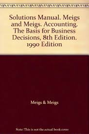 solutions manual meigs and meigs accounting the basis for