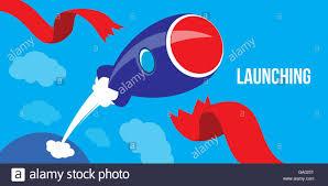 launching ideas startup concept flat design rocket launch stock