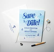 nautical save the date ombré save the dates mospens studio
