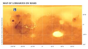 Mars Map Map Of Libraries On Mars Ica Commission On Planetary Cartography