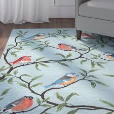 andover mills haverstraw hand tufted blue indoor outdoor area rug