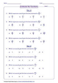 estimating products u0026 quotients worksheets