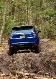 orange range rover svr here u0027s how quick the range rover sport svr is on dirt snow and