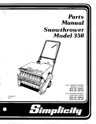 simplicity snow blower 350 user guide manualsonline com