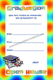 Open House Invitations Free Graduation Invitations Open House Invites