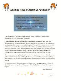 wayside house christmas newsletter wayside house christian